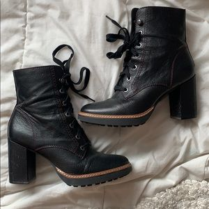 HOST PICK✨Callie lace up combat moto boot